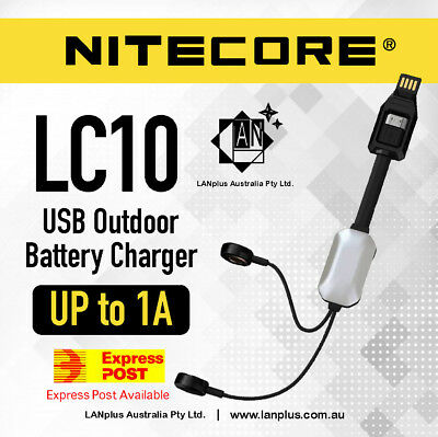 New Nitecore LC10 Portable Magnetic USB Charger 4 18650 26650 AAA 16650 RCR123