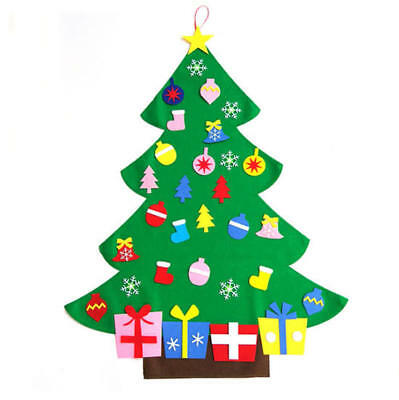 Large 3FT Wall Hanging Felt Christmas Tree Kit-Childrens Kids Decorate Your Own