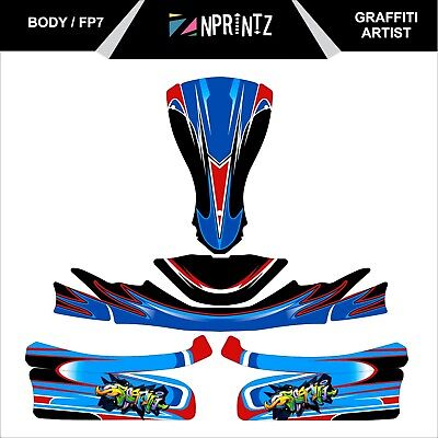 Fp7 Graffiti Artist Style Full Kart Sticker Kit - Karting  - Rotax Iame