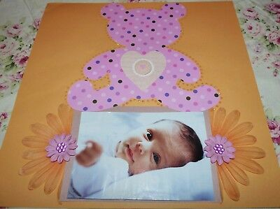 "Scrapbook Page Handmade12 X 12  ""baby Page"".....huge Sale"