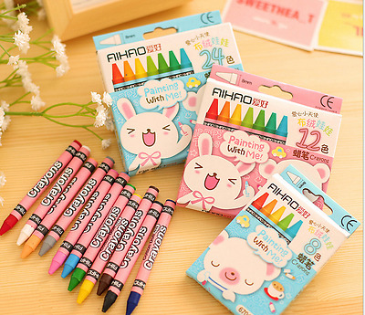 8/24 Colours/Set No-Toxic Crayons Children Kids Gift Colorful Stick Arts Crafts