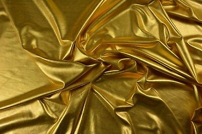 Metallic Gold Foil Jersey Knit Fabric (150cm wide)