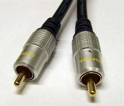Composite RCA Single Phono Cable AV Video Digital Audio Lead Shielded OFC