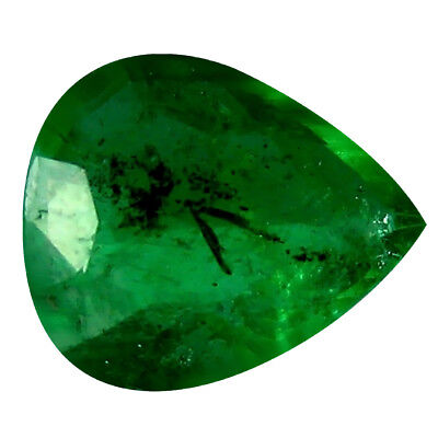 0.35 ct Pear (6 x 5 mm) Unheated Green Colombian Emerald Natural Loose Gemstone