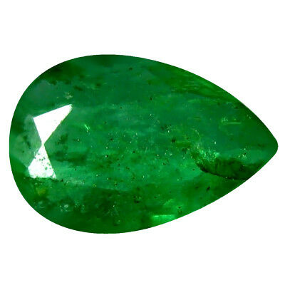 0.22 ct Pear (6 x 4 mm) Unheated Green Colombian Emerald Natural Loose Gemstone