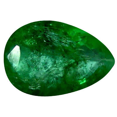 0.35 ct Pear (6 x 4 mm) Unheated Green Colombian Emerald Natural Loose Gemstone