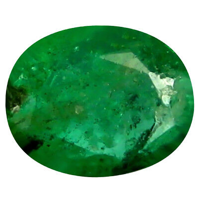 0.40 ct Oval (5 x 4 mm) Unheated Green Colombian Emerald Natural Loose Gemstone
