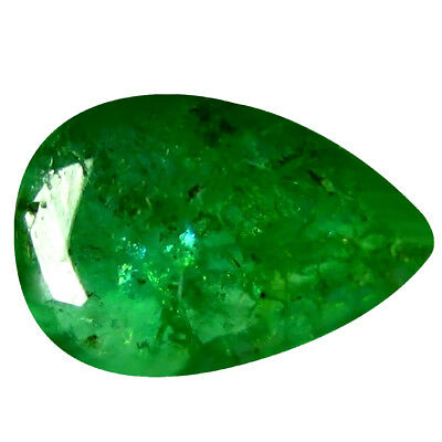0.29 ct Pear (6 x 4 mm) Unheated Green Colombian Emerald Natural Loose Gemstone