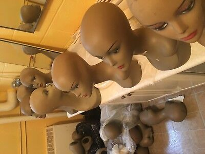 Mannequin Head Vintage  Female Wig Heads