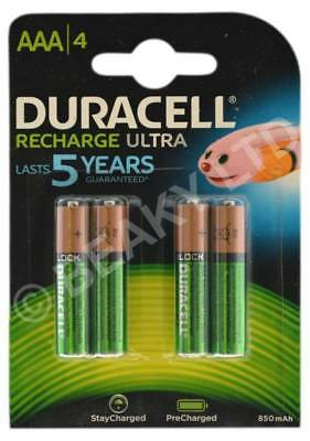 Genuine Duracell Recharge ULTRA AAA Rechargeable Battery 900 mAh [4-pack]