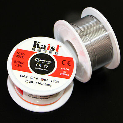 0.6mm 50g 60/PB 40 Rosin Core Flux Tin Lead Roll Soldering Solder Wire US SHIP