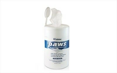 Safetec of America 34410 Paws Antimicrobial 160 Count Tub Case of 12