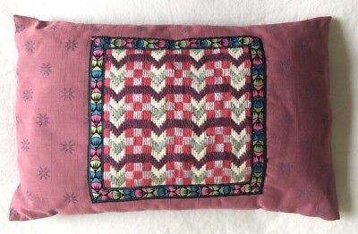 Dusky Pink VINTAGE  Retro CUSHION COVER Tapestry Needlepoint