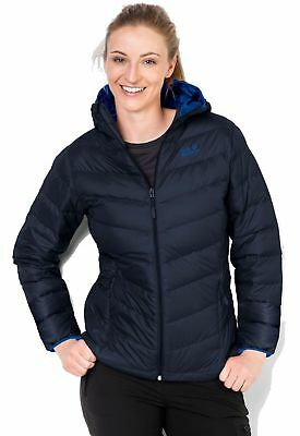 Jack Wolfskin Women's Helium Stardust Coat, Midnight Blue, Large