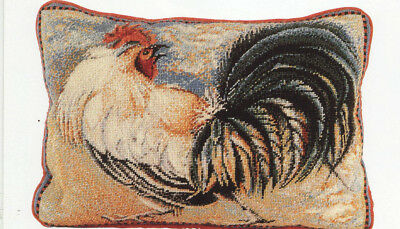 Cockadoodledoo Cockerel Cushion Elian McCready Tapestry Needlepoint Chart Colour