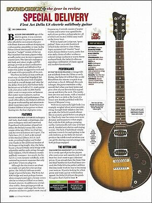 First Act Delia LS electric solid body guitar 8 x 11 sound check review article