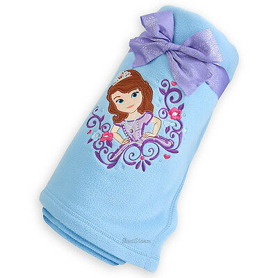 NWT DISNEY PRINCESS Cinderella Light Blue Throw Blanket 40 X 40 Simple Sofia The First Throw Blanket