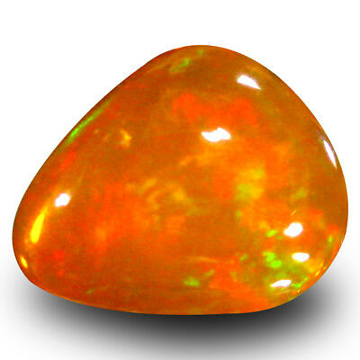 2.52 Carats Classe Cabochon (11 X 9 mm) Clignotantes Multicolore Orange
