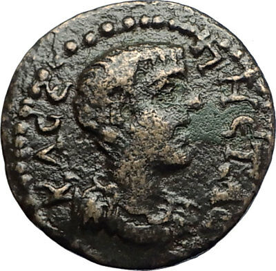 GETA Authentic Ancient 198AD RARE Roman Coin of Dionysopolis w TORCH i71261
