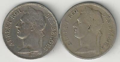 xx From Accumulation - 2 OLDER 1 FRANC COINS..BELGIAN CONGO..1920 & 1930