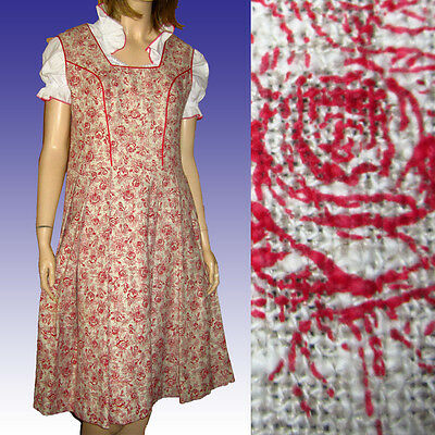 One of a Kind BAVARIAN DIRNDL wBLOUSE Bust 38 SMOCK - OKTOBERFEST Roses