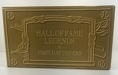 Hall of Fame Legends in First Day Covers Babe Ruth Lou Gehrig Ty Cobb & GIFT
