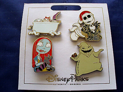 * NBC NIGHTMARE BEFORE CHRISTMAS * Disney Parks 4 Pin Set on Card - Jack Sally