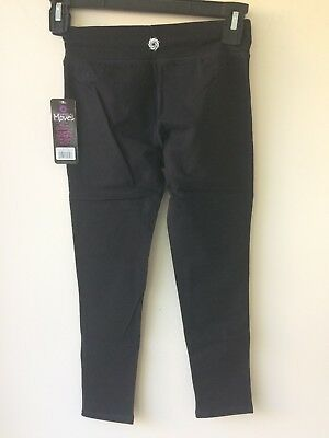 RAINBEAU MOVES BLACK CAPRI DANCE PANTS FOR GIRLS, SIZE 6/7. New With Tag