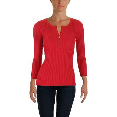 INC Womens Layered-Look Ruched Casual Pullover Sweater Top BHFO 7544