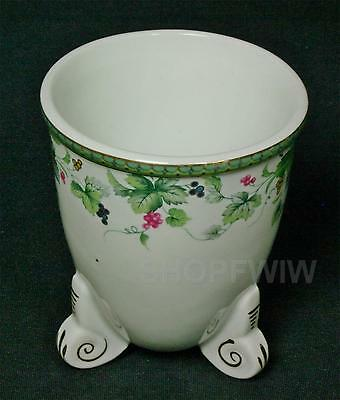 Vintage Formalities By Baum Brothers Footed Vase With Grapes 1970s