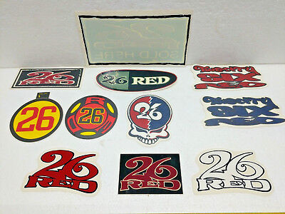26 RED Clothing 90's Vintage Urban Rave Scene Stickers Hang Tag Dealer Jenco
