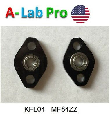 4PCs KFL04 4mm inner ID bore Mounted Housing with MF84ZZ LF840ZZ Flanged Bearing