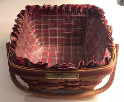 1993 Longaberger Christmas Collection Bayberry Basket - Liner, Protector