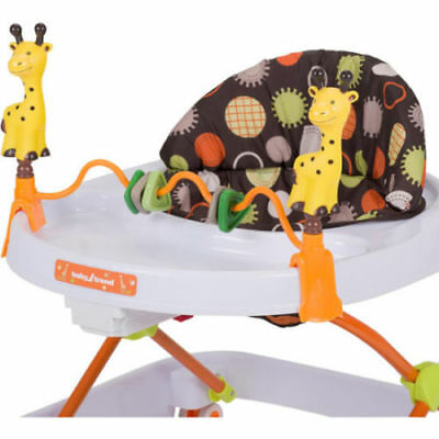 Baby Infant Walker Activity Seat Walking Learning Play Toy Folding Adj Height