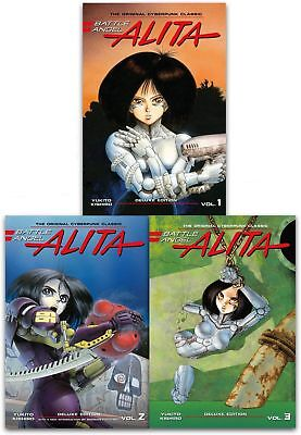 Battle Angel Alita Deluxe Edition Collection 3 Books Set By Yukito Kishiro NEW