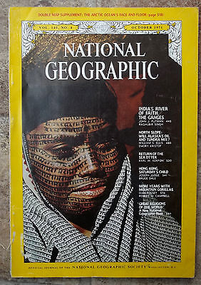 National Geographic Oct 1971 Gorillas Religions Ganges Hong Kong Sea Otters Oil
