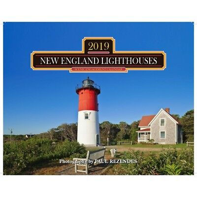 2019 Lighthouses of New England Wall Calendar, Lighthouse by Mahoney Publishing