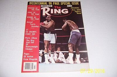 1976 The Ring MUHAMMAD ALI vs JOE FRAZIER III FIGHT of The YEAR No Label SPECIAL