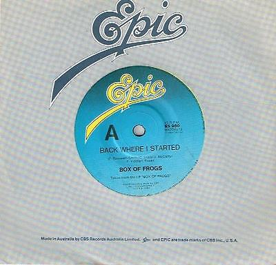 """Box Of Frogs - Back Where I Started - 7"""" 45 Vinyl Record - 1984"""
