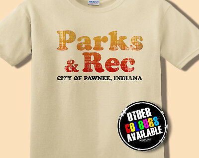 Parks and Rec Logo T-Shirt Tee, Retro Look S M L XL Ron Swanson Recreation TV