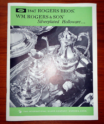 Silverplated Holloware Booklet 1847 Rogers Bros, Wm. Gogers & son