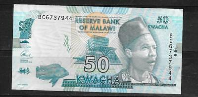 MALAWI #64c 2016 50 KWACHA NEW CRISP MINT BANKNOTE PAPER MONEY CURRENCY NOTE