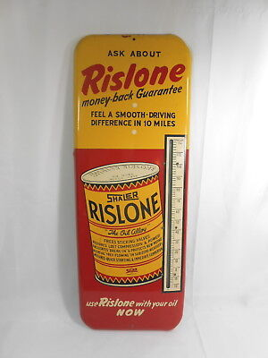 Vintage Rislone Metal Dated 49 Advertising Thermometer