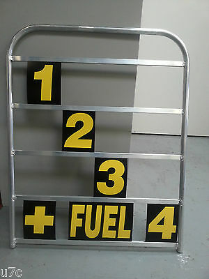 aluminium pit board complete with number set.