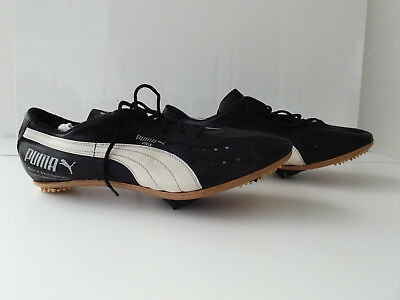 Antique NOS Puma Prix Fahrrad vintage Rennrad Schuhe shoes with wooden Leder 42
