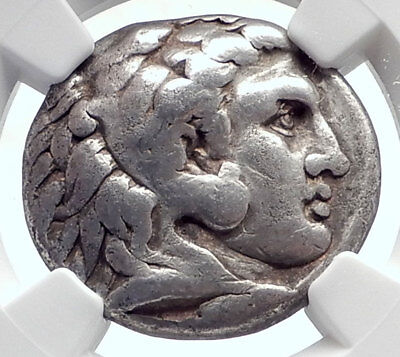 ALEXANDER III the Great Authentic Ancient Silver TETRADRACHM Coin NGC  i72053