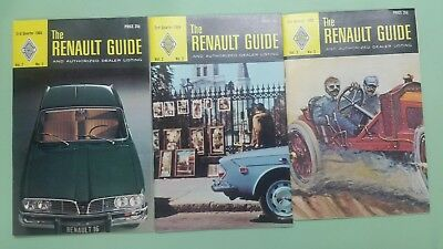 1968/1969 Renault Guide and authorized dealer listing lot of 3