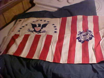 WW2 USCG US Coast Guard Ensign Ships Cutter Colors Flag