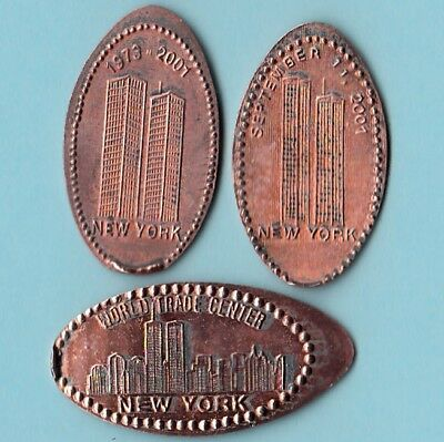 [Z] Lot Of 3 ~ Twin Towers ~ 9/11 ~ World Trade Center ~ New York . Penny