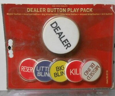 Texas Hold'em Dealer Button Play Pack